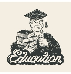 Education logo design template Graduate vector image vector image