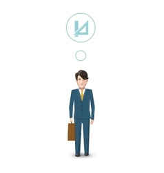 Flat character mathematician with profession icon vector image