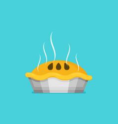 flat pie baking sweet sign vector image