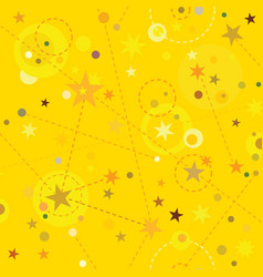 golden stars seamless pattern swatch tile vector image