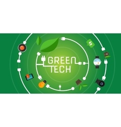 green tech eco environment friendly technology vector image vector image