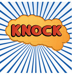 knock4 vector image vector image