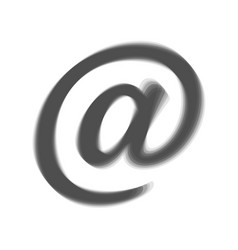 Mail sign gray icon shaked vector