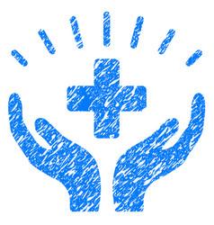 Medical prosperity grunge icon vector