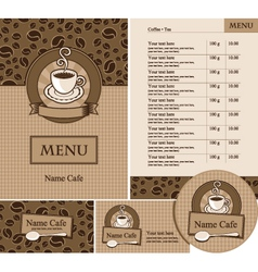 menu set vector image