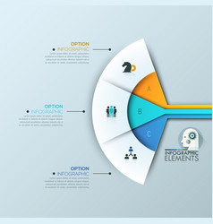 Modern infographic design layout 3 connected vector