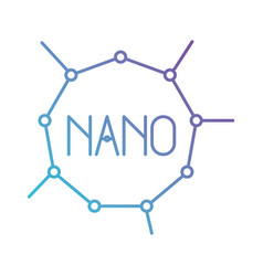 nano molecular structure in color gradient vector image