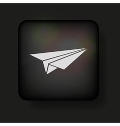 Paper plane icon vector image vector image
