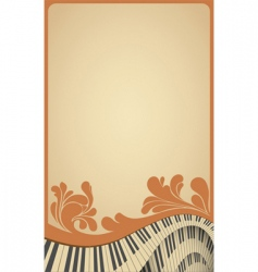 piano poster vector image