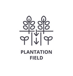 Plantation field line icon outline sign linear vector