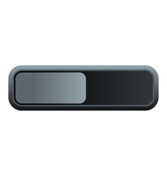 Rectangle button icon flat style vector