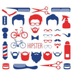 set of dress up with different men hipster vector image vector image