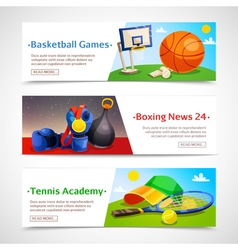 Sport Horizontal Banners vector image vector image