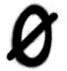 Sprayed scandinavian vowel font graffiti in black vector