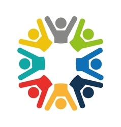 Teamwork businessmen silhouette icon vector