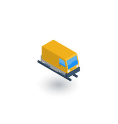Train head railway isometric flat icon 3d vector