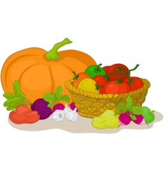 vegetables still life vector image vector image
