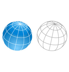 Wireframe globe icon - planet framework planet vector