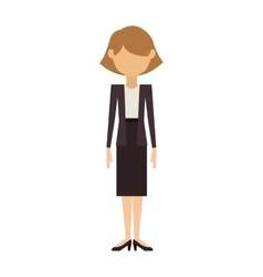 woman in dress and jacket with short hair vector image vector image