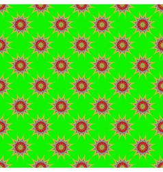 Abstract seamless pattern with fractal star on vector image