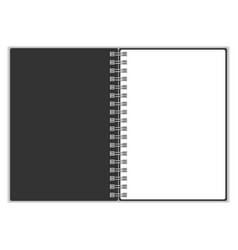 Empty blank of spiral notebook spiral notebook vector