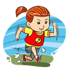 Running girl vector