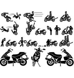 Icon man biker vector