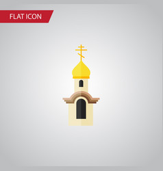 Isolated christian flat icon structure vector