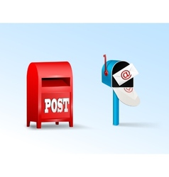 Post boxes vector