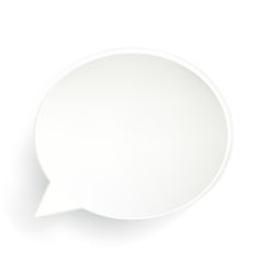 Speech bubble isolated vector
