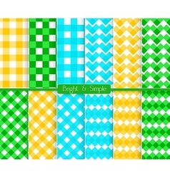 Bright and simple blue orange and green squares vector