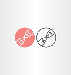 Dna circle icons design vector