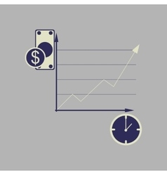 Flat web icon on stylish background time money vector