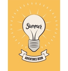 Typographic retro summer poster vector