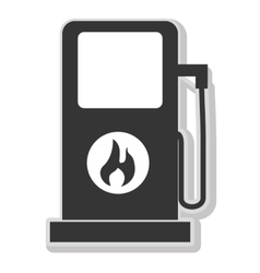 Fuel energy isolated flat icon in black and white vector