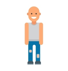 Bald man vector