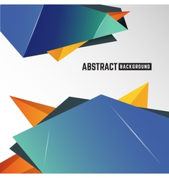 Abstract geometric polygon element background vector image vector image