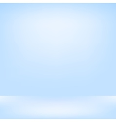 Blue studio backdrop Interior vector image