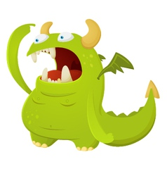 cartoon dragon character vector image
