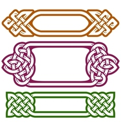 celtic frame set vector image