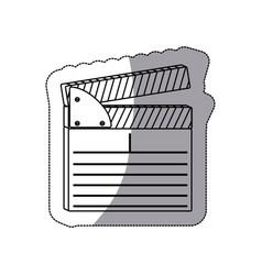 Contour clapper board icon vector