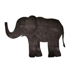elephant abstract design vector image