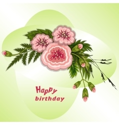 Floral composition bouquet of flowers on soft vector