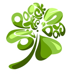 Four Leaves Shamrock vector image vector image