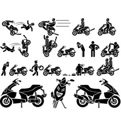 Icon man biker vector