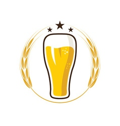iluustration of glass with beer vector image vector image