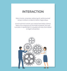 interaction visualization vector image