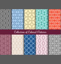 modern floral pattern set in vintage style vector image vector image