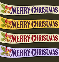ribbons for christmas vector image vector image