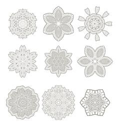Round geometric ornaments vector